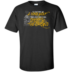 Viking, Norse, Gym t-shirt & apparel, I'd rather be a lone wolf, frontApparel[Heathen By Nature authentic Viking products]Tall Ultra Cotton T-ShirtBlackXLT