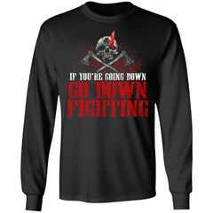 Viking, Norse, Gym t-shirt & apparel, If you're going down, FrontApparel[Heathen By Nature authentic Viking products]Long-Sleeve Ultra Cotton T-ShirtBlackS