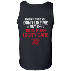 Viking, Norse, Gym t-shirt & apparel, I'm 97% sure you don't like me, BackApparel[Heathen By Nature authentic Viking products]Cotton Tank TopBlackS
