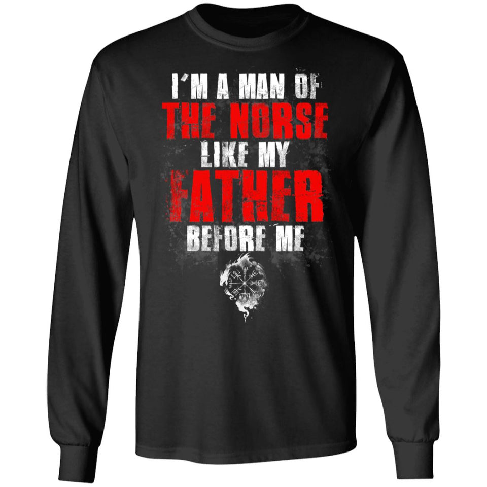 Viking, Norse, Gym t-shirt & apparel, I'm A Man, FrontApparel[Heathen By Nature authentic Viking products]Long-Sleeve Ultra Cotton T-ShirtBlackS