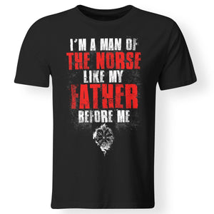 Viking, Norse, Gym t-shirt & apparel, I'm A Man, FrontApparel[Heathen By Nature authentic Viking products]Premium Men T-ShirtBlackS