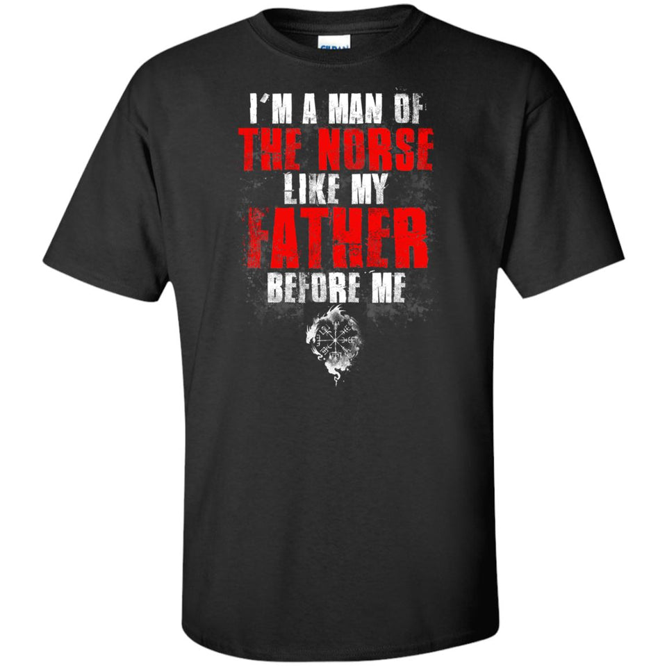 Viking, Norse, Gym t-shirt & apparel, I'm A Man, FrontApparel[Heathen By Nature authentic Viking products]Tall Ultra Cotton T-ShirtBlackXLT