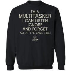 Viking, Norse, Gym t-shirt & apparel, I'm a multitasker, FrontApparel[Heathen By Nature authentic Viking products]Unisex Crewneck Pullover SweatshirtBlackS