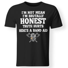 Viking, Norse, Gym t-shirt & apparel, I'm brutally honest, FrontApparel[Heathen By Nature authentic Viking products]Gildan Premium Men T-ShirtBlackS