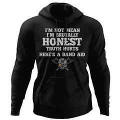 Viking, Norse, Gym t-shirt & apparel, I'm brutally honest, FrontApparel[Heathen By Nature authentic Viking products]Unisex Pullover HoodieBlackS