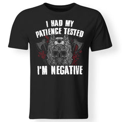 Viking, Norse, Gym t-shirt & apparel, I'm negative, FrontApparel[Heathen By Nature authentic Viking products]Gildan Premium Men T-ShirtBlack5XL