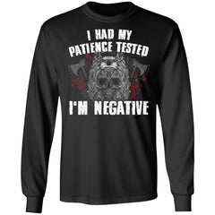 Viking, Norse, Gym t-shirt & apparel, I'm negative, FrontApparel[Heathen By Nature authentic Viking products]Long-Sleeve Ultra Cotton T-ShirtBlackS