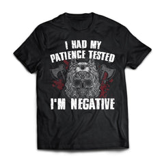 Viking, Norse, Gym t-shirt & apparel, I'm negative, FrontApparel[Heathen By Nature authentic Viking products]Next Level Premium Short Sleeve T-ShirtBlackX-Small