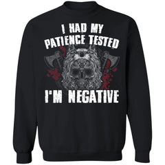 Viking, Norse, Gym t-shirt & apparel, I'm negative, FrontApparel[Heathen By Nature authentic Viking products]Unisex Crewneck Pullover SweatshirtBlackS