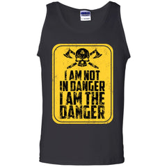 Viking, Norse, Gym t-shirt & apparel, I'm not in danger I'm the danger , frontApparel[Heathen By Nature authentic Viking products]Cotton Tank TopBlackS