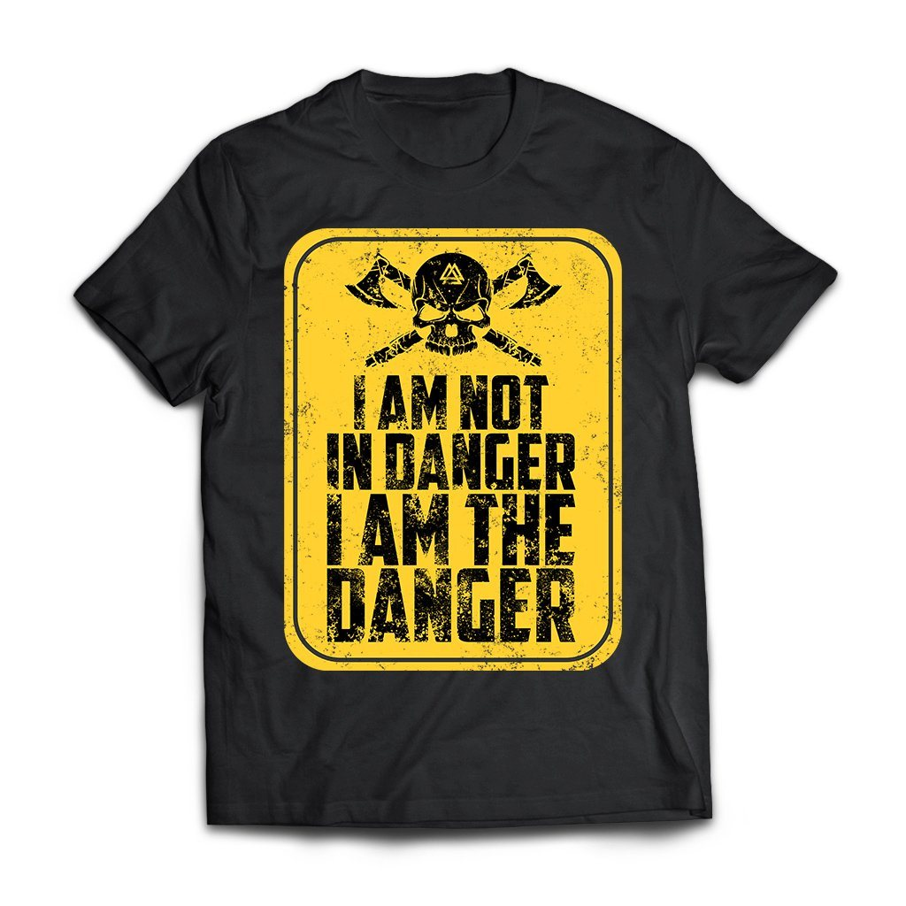 Viking, Norse, Gym t-shirt & apparel, I'm not in danger I'm the danger , frontApparel[Heathen By Nature authentic Viking products]Next Level Premium Short Sleeve T-ShirtBlackX-Small