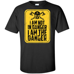 Viking, Norse, Gym t-shirt & apparel, I'm not in danger I'm the danger , frontApparel[Heathen By Nature authentic Viking products]Tall Ultra Cotton T-ShirtBlackXLT
