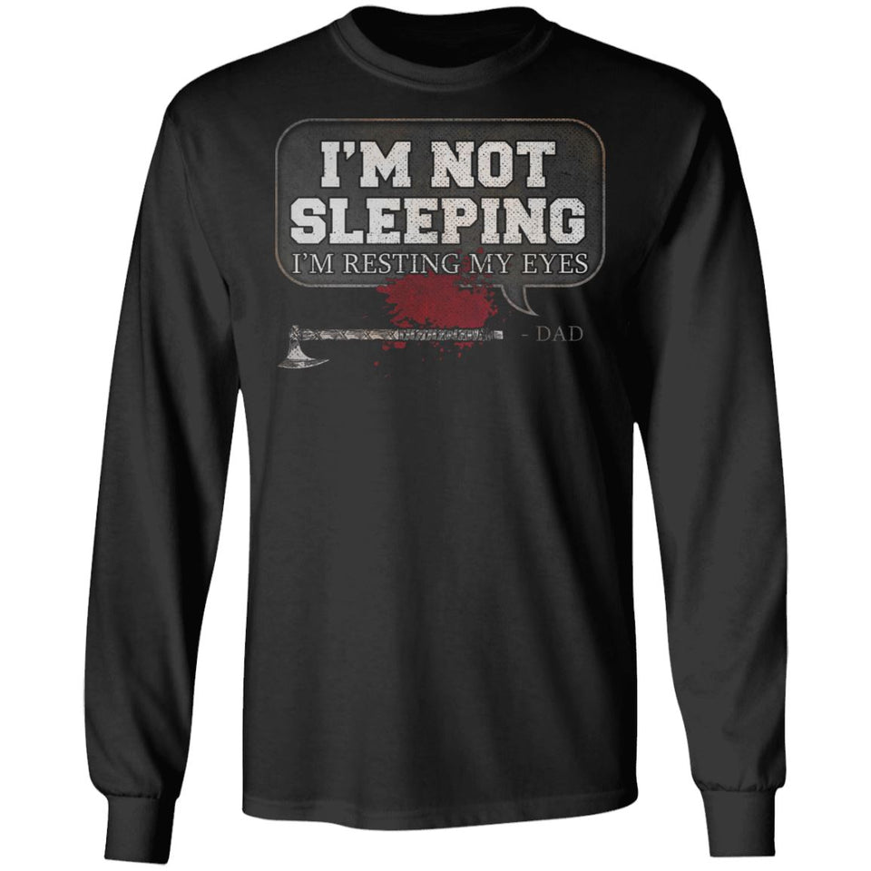 Viking, Norse, Gym t-shirt & apparel, I'm not sleeping, FrontApparel[Heathen By Nature authentic Viking products]Long-Sleeve Ultra Cotton T-ShirtBlackS