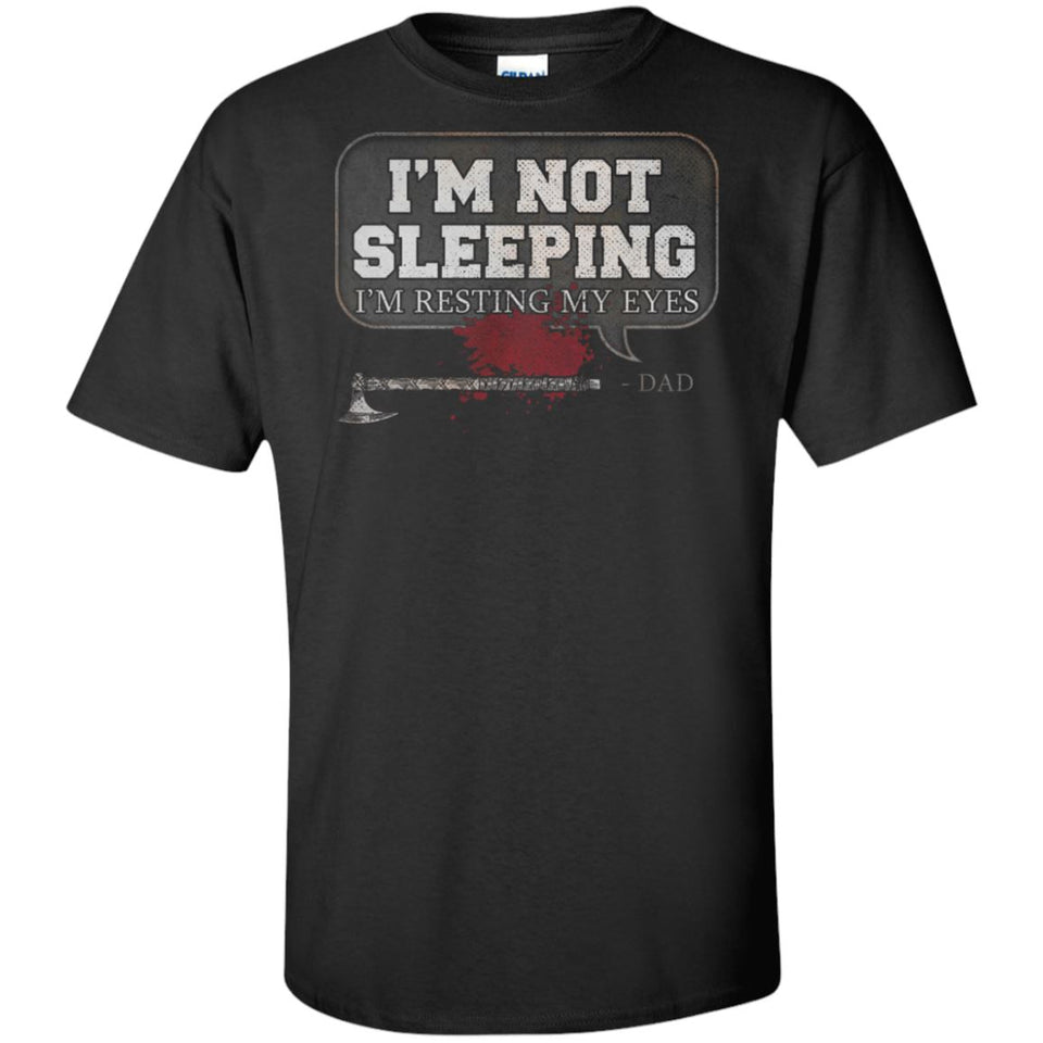 Viking, Norse, Gym t-shirt & apparel, I'm not sleeping, FrontApparel[Heathen By Nature authentic Viking products]Tall Ultra Cotton T-ShirtBlackXLT