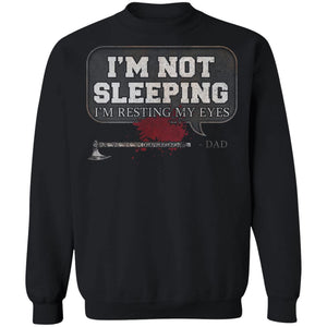 Viking, Norse, Gym t-shirt & apparel, I'm not sleeping, FrontApparel[Heathen By Nature authentic Viking products]Unisex Crewneck Pullover SweatshirtBlackS
