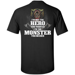 Viking, Norse, Gym t-shirt & apparel, I'm Not The Hero You Wanted, BackApparel[Heathen By Nature authentic Viking products]Tall Ultra Cotton T-ShirtBlackXLT