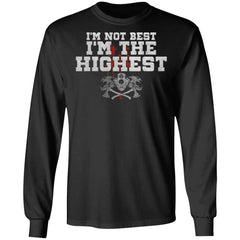Viking, Norse, Gym t-shirt & apparel, I'm The Highest, FrontApparel[Heathen By Nature authentic Viking products]Long-Sleeve Ultra Cotton T-ShirtBlackS