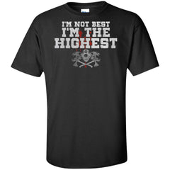 Viking, Norse, Gym t-shirt & apparel, I'm The Highest, FrontApparel[Heathen By Nature authentic Viking products]Tall Ultra Cotton T-ShirtBlackXLT