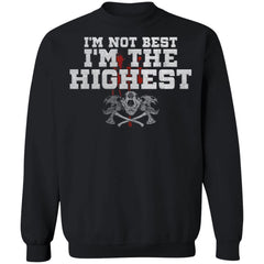 Viking, Norse, Gym t-shirt & apparel, I'm The Highest, FrontApparel[Heathen By Nature authentic Viking products]Unisex Crewneck Pullover Sweatshirt 8 oz.BlackS