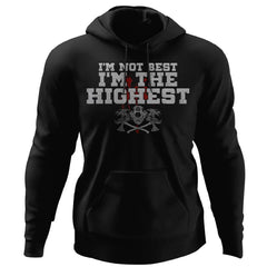 Viking, Norse, Gym t-shirt & apparel, I'm The Highest, FrontApparel[Heathen By Nature authentic Viking products]Unisex Pullover HoodieBlackS