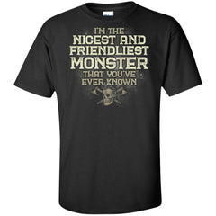 Viking, Norse, Gym t-shirt & apparel, I'm the nicest and friendliest Monster, FrontApparel[Heathen By Nature authentic Viking products]Tall Ultra Cotton T-ShirtBlackXLT