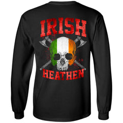 Viking, Norse, Gym t-shirt & apparel, Irish, BackApparel[Heathen By Nature authentic Viking products]Long-Sleeve Ultra Cotton T-ShirtBlackS