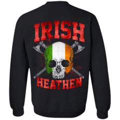 Viking, Norse, Gym t-shirt & apparel, Irish, BackApparel[Heathen By Nature authentic Viking products]Unisex Crewneck Pullover SweatshirtBlackS