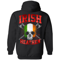 Viking, Norse, Gym t-shirt & apparel, Irish, BackApparel[Heathen By Nature authentic Viking products]Unisex Pullover HoodieBlackS