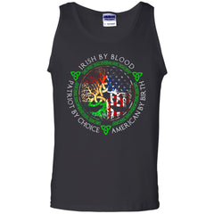 Viking, Norse, Gym t-shirt & apparel, Irish By Blood, FrontApparel[Heathen By Nature authentic Viking products]Cotton Tank TopBlackS