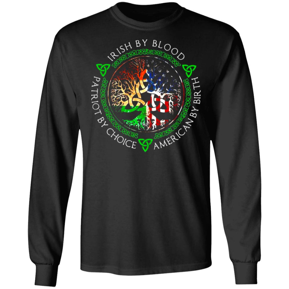 Viking, Norse, Gym t-shirt & apparel, Irish By Blood, FrontApparel[Heathen By Nature authentic Viking products]Long-Sleeve Ultra Cotton T-ShirtBlackS