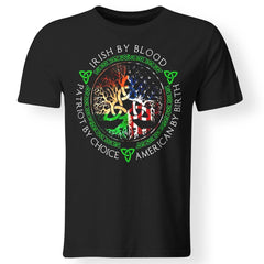 Viking, Norse, Gym t-shirt & apparel, Irish By Blood, FrontApparel[Heathen By Nature authentic Viking products]Premium Men T-ShirtBlackS