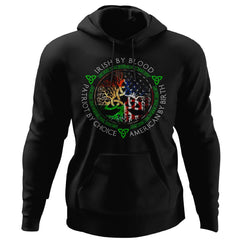 Viking, Norse, Gym t-shirt & apparel, Irish By Blood, FrontApparel[Heathen By Nature authentic Viking products]Unisex Pullover HoodieBlackS