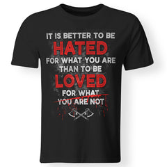 Viking, Norse, Gym t-shirt & apparel, It is Better To Be Hated, FrontApparel[Heathen By Nature authentic Viking products]Premium Men T-ShirtBlackS