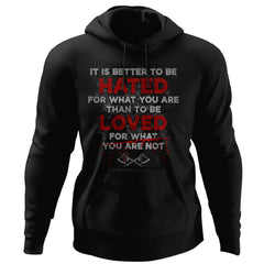Viking, Norse, Gym t-shirt & apparel, It is Better To Be Hated, FrontApparel[Heathen By Nature authentic Viking products]Unisex Pullover HoodieBlackS