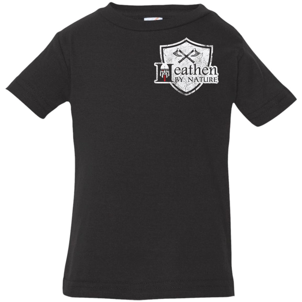 Viking, Norse, Gym t-shirt & apparel, It is in my nature, Double sidedApparel[Heathen By Nature authentic Viking products]Infant Jersey T-ShirtBlack6 Months