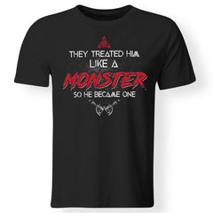 Viking, Norse, Gym t-shirt & apparel, Like a Monster, FrontApparel[Heathen By Nature authentic Viking products]Gildan Premium Men T-ShirtBlack5XL