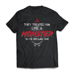 Viking, Norse, Gym t-shirt & apparel, Like a Monster, FrontApparel[Heathen By Nature authentic Viking products]Next Level Premium Short Sleeve T-ShirtBlackX-Small