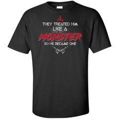 Viking, Norse, Gym t-shirt & apparel, Like a Monster, FrontApparel[Heathen By Nature authentic Viking products]Tall Ultra Cotton T-ShirtBlackXLT
