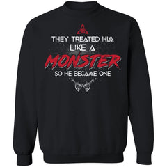 Viking, Norse, Gym t-shirt & apparel, Like a Monster, FrontApparel[Heathen By Nature authentic Viking products]Unisex Crewneck Pullover SweatshirtBlackS