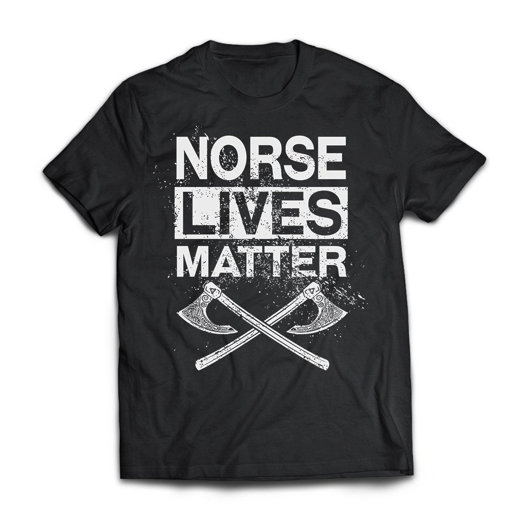 Viking, Norse, Gym t-shirt & apparel, lives, matter, frontApparel[Heathen By Nature authentic Viking products]Next Level Premium Short Sleeve T-ShirtBlackX-Small
