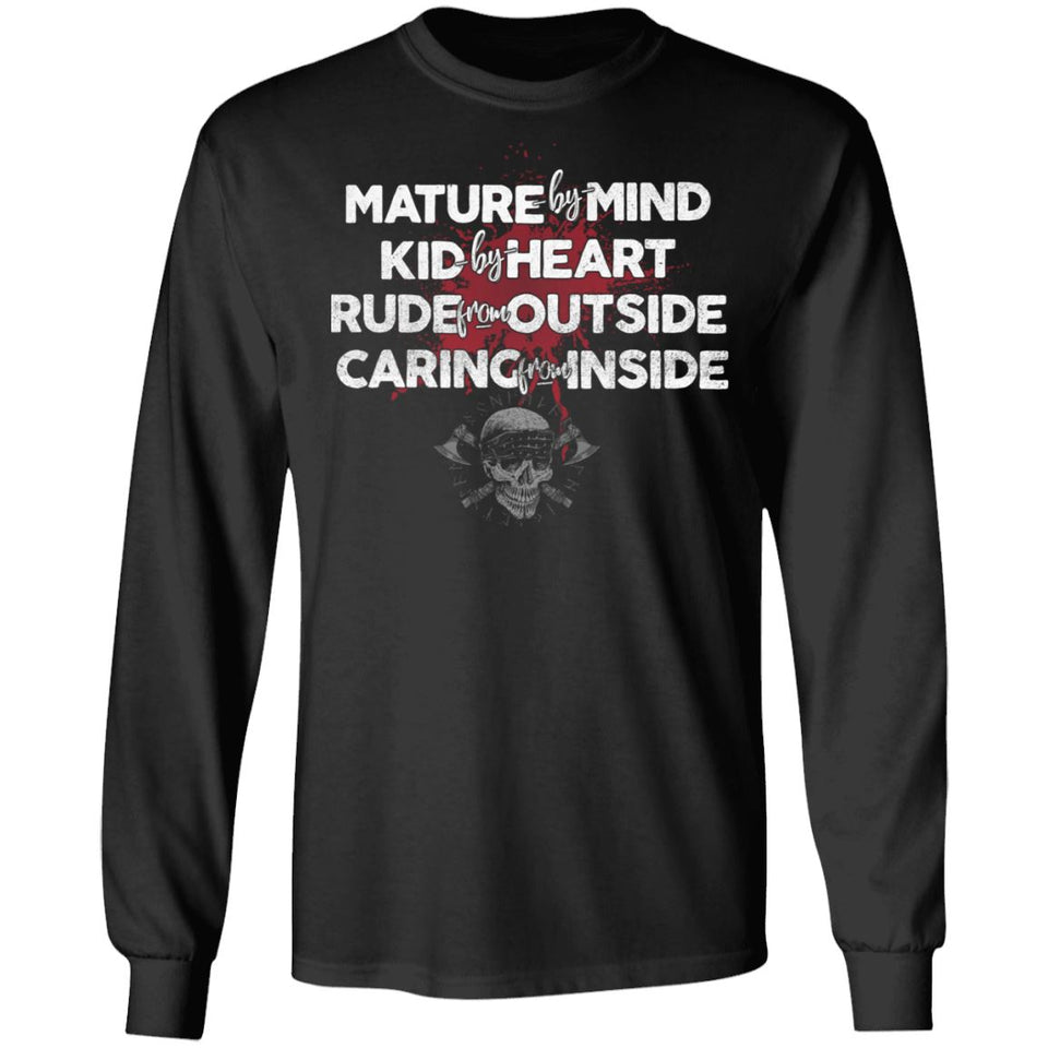 Viking, Norse, Gym t-shirt & apparel, Mature by mind, FrontApparel[Heathen By Nature authentic Viking products]Long-Sleeve Ultra Cotton T-ShirtBlackS