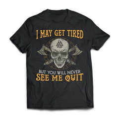 Viking, Norse, Gym t-shirt & apparel, never see me quit, frontApparel[Heathen By Nature authentic Viking products]Next Level Premium Short Sleeve T-ShirtBlackX-Small