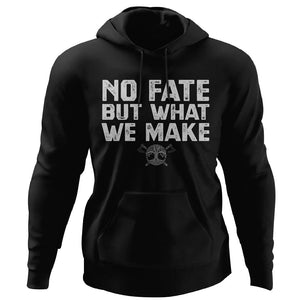 Viking, Norse, Gym t-shirt & apparel, No fate but what we make, FrontApparel[Heathen By Nature authentic Viking products]Unisex Pullover HoodieBlackS