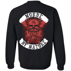 Viking, Norse, Gym t-shirt & apparel, Norse By Nature, BackApparel[Heathen By Nature authentic Viking products]Unisex Crewneck Pullover SweatshirtBlackS