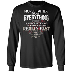 Viking, Norse, Gym t-shirt & apparel, Norse Father, FrontApparel[Heathen By Nature authentic Viking products]Long-Sleeve Ultra Cotton T-ShirtBlackS
