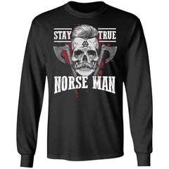 Viking, Norse, Gym t-shirt & apparel, Norse Man, FrontApparel[Heathen By Nature authentic Viking products]Long-Sleeve Ultra Cotton T-ShirtBlackS