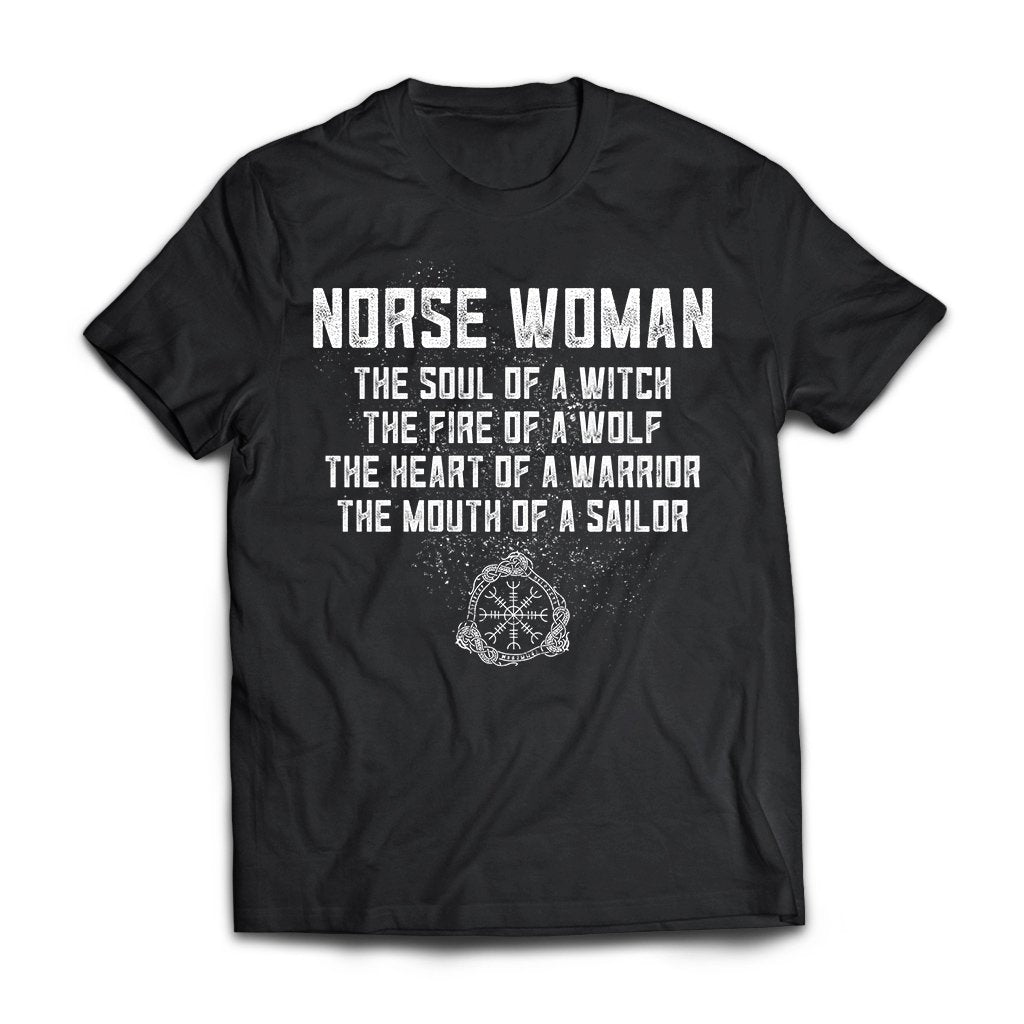 Viking, Norse, Gym t-shirt & apparel, Norse Woman, FrontApparel[Heathen By Nature authentic Viking products]Next Level Premium Short Sleeve T-ShirtBlackX-Small