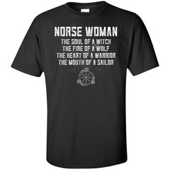 Viking, Norse, Gym t-shirt & apparel, Norse Woman, FrontApparel[Heathen By Nature authentic Viking products]Tall Ultra Cotton T-ShirtBlackXLT