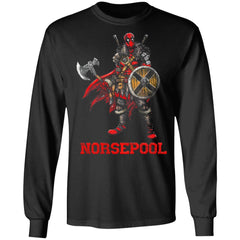 Viking, Norse, Gym t-shirt & apparel, Norsepool, FrontApparel[Heathen By Nature authentic Viking products]Long-Sleeve Ultra Cotton T-ShirtBlackS
