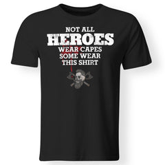 Viking, Norse, Gym t-shirt & apparel, Not all heros wear capes, FrontApparel[Heathen By Nature authentic Viking products]Gildan Premium Men T-ShirtBlack6XL